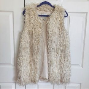 Faux Fur Long Vest - I LOVE H81 size M/L